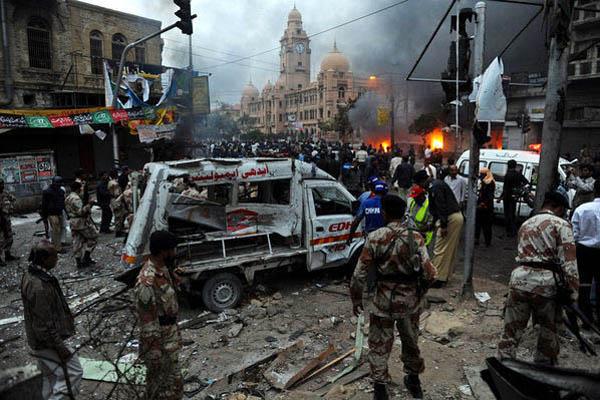 巴基斯坦遭炸弹袭击引发骚乱