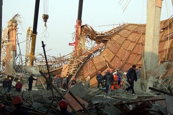 安徽产业园区脚手架倒塌