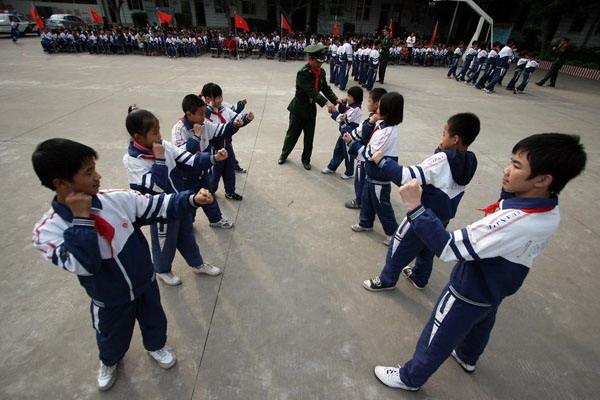晋江福建小学生练军体拳听写小学生大赛防身2016图片