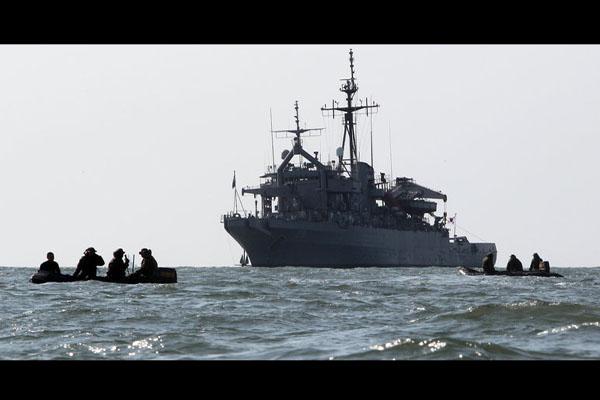 韩国海军警戒艇在朝鲜半岛西部海域沉没