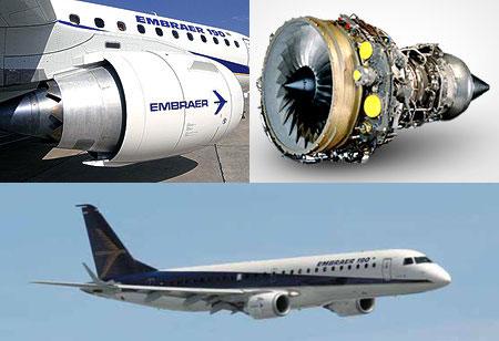 e190客机发动机及飞机全貌