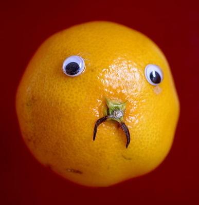 蔬菜水果装上 眼睛 真逗乐