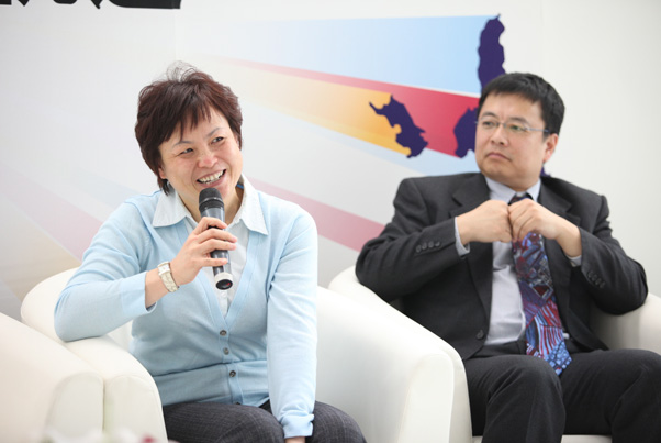 秦虹女士与现场嘉宾交流_盛会后经济:中国城市发展新机遇