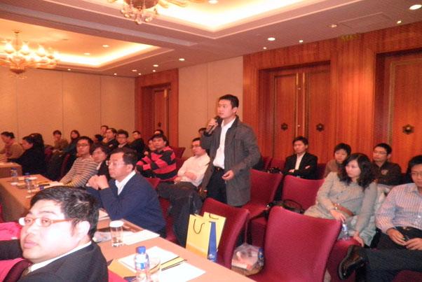 Q&A环节学生踊跃的提问_北京讲座