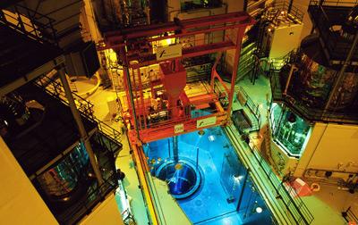 大亚湾核电站核岛厂房内景。卢汉欣/新华社