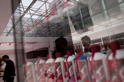 2011年4月7日,位于贵州省仁怀市的茅台酒厂。茅台价格的疯涨,揭示出政商界公款吃喝风日盛的现实。Nelson Ching/Bloomberg/CFP