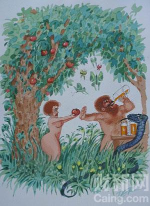 现代亚当与夏娃。漫画作品由亚太动漫协会供稿 _[国际动漫]奥列格·德加科夫(Oleg Dergachov)