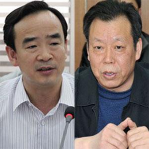 香河县原县长张贵金(左),因违规批地被免职。香河县县委书记杨文华(右)未受处理。