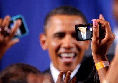 4月21日,奥巴马在加利福尼亚州参加大选筹款活动。Eric Thayer/Getty Images/CFP