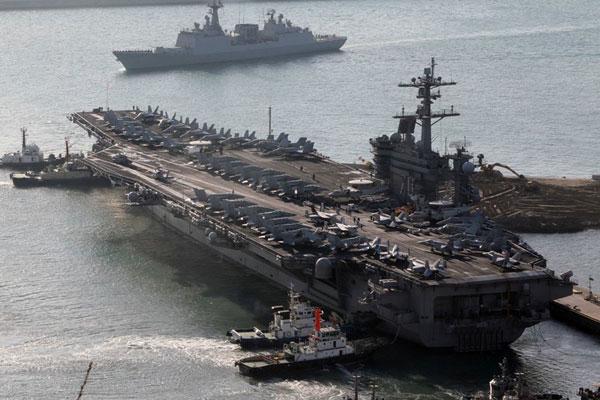 美国卡尔·文森号重型核动力航空母舰。 CFP  _全球现役航母一览 美国超半数