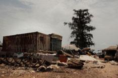 基础建设仍极为落后的几内亚首都科纳克里。