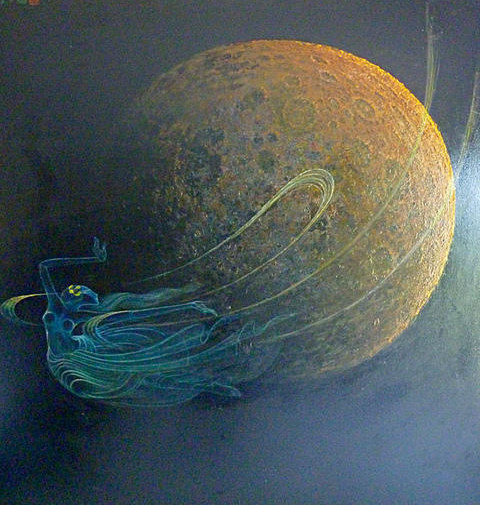 《嫦娥奔月》(油画)