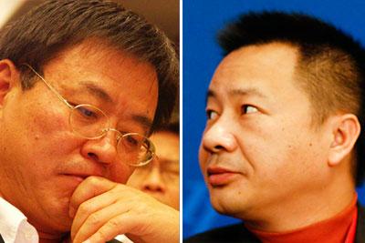赛富基金创始合伙人阎焱(左);雷士照明创始人吴长江。