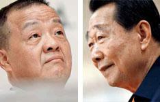 左图:中国平安董事长马明哲一手创建并始终掌控平安。右图:泰国正大集团董事长谢国民出面买下汇丰所持平安股权。