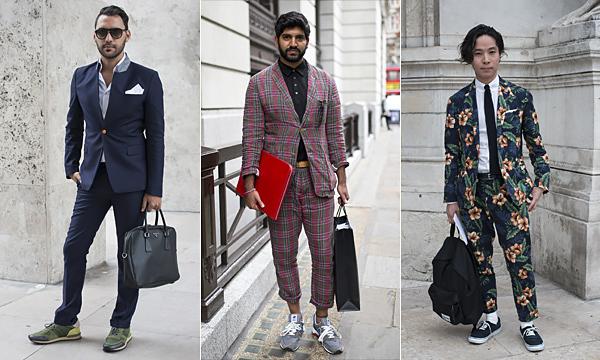 西装与运动鞋的搭配