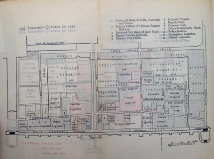 地图 金融街/图8:这张1935年的地图,底下压着的是1900年的地图,一目了然...