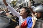 委内瑞拉游行继续 一名反对派领袖自首