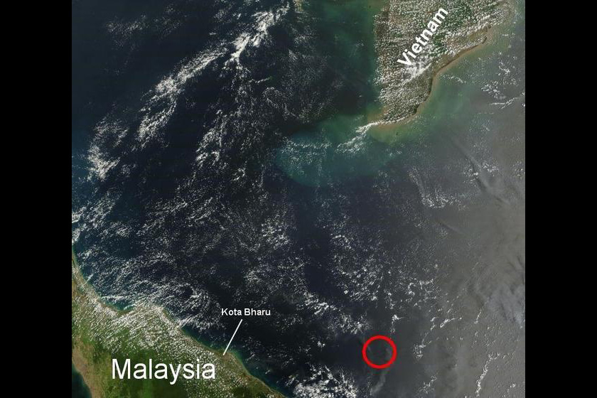 Multinational search teams are searching for the Malaysia Airlines flight which went missing en route from Kuala Lumpur to Beijing.  Flight MH370 last had contact with air traffic controllers 120 nautical miles off of the Malaysian town of Kota Bharu / NASA_Missing Airplane