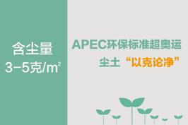 """APEC环保标准超奥运 尘土""""以克论净"""""""