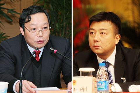资料图:苏州市副市长徐惠民(左),太仓市委副书记杜小刚.图片来源网络