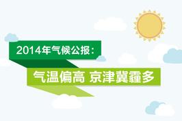 2014年气候公报:气温偏高 京津冀霾多