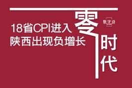 18省CPI进入零时代 陕西出现负增长