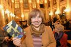 白俄罗斯女作家、记者斯韦特兰娜·阿列克谢耶维奇获2015年诺贝尔文学奖