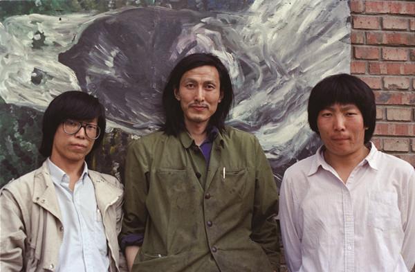 1990年,wr小組成員合影,左起分別為朱雁光,大同大張,任小穎圖片