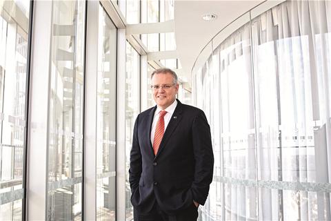 澳大利亚国库部部长斯科特莫里森称,考虑到中国正由投资驱动增长转向