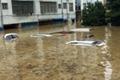 湖南道县遭龙卷风、暴雨袭击 汽车被淹没