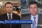 沃尔玛业绩超预期 股价大涨9%