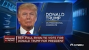 美众议院议长瑞恩表态:支持特朗普