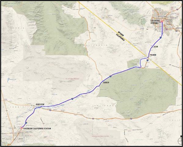 拉斯维加斯-洛杉矶高铁线路