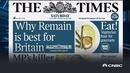《泰晤士报》表态支持英国留欧