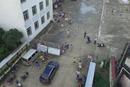 合肥市肥西县三河古镇居民受灾撤离