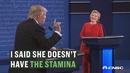 【美国大选辩论】特朗普希拉里的精力之争