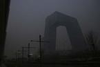 """北京雾霾围城 空气指数一度""""爆表"""""""