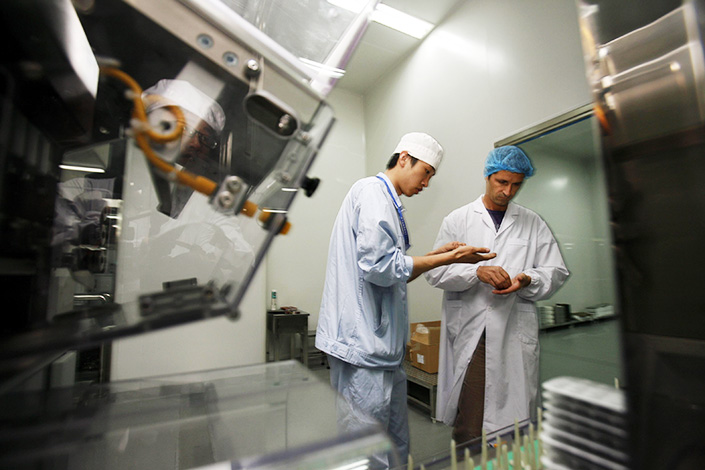 North China Pharmaceutical Co. resumed production on Monday after a monthlong shutdown because of smog. The closure cost the company 11 million yuan in profit. Photo: IC