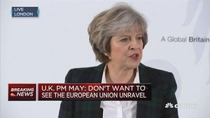英国首相:愿与欧盟外的国家订立贸易协定