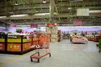 北京乐天玛特超市顾客寥寥 商品货架空荡荡