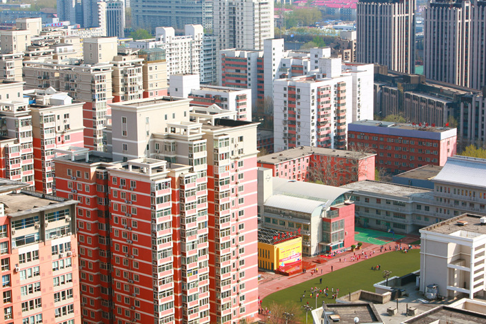 The Wudaokou area of Beijing's Haidian district is one part of the capital that has seen skyrocketing property prices as parents try to buy homes in neighborhoods that meet the residency requirements of the best schools. Photo: Visual China