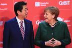 默克尔安倍共同赞扬自由贸易 敦促欧日尽快达成贸易协定