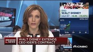 迪士尼延长CEO艾格任期至2019年