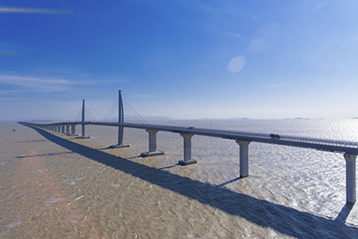 The Zhuhai section of the Hong Kong-Zhuhai-Macau Bridge in Zhuhai, Guangdong province, China on Dec. 27, 2016. The bridge is on track to reach a major milestone later this year with the completion of the Hong Kong portion. Photo: IC