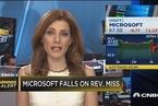 微软一季度财报喜忧参半 股价小幅下跌