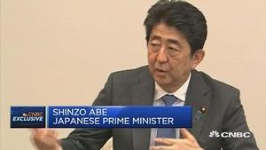 安倍:疑虑解决后日本将对亚投行持正面态度