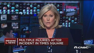 纽约时报广场汽车冲撞致1死 现场