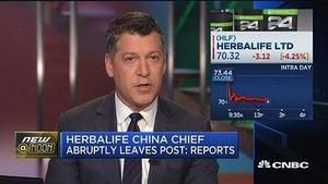 康宝莱中国区总裁离职引发股价下跌