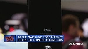 机构:Q1苹果三星手机份额均下滑 中国厂商正崛起