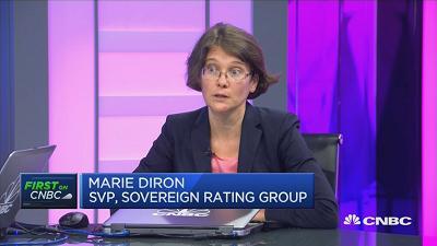 穆迪下调中国主权评级至A1 称债务水平将续涨